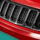 Welltobuy Plástico ABS Carreras Automotrices Carreras de Panal Parrilla Rejilla de Malla Parrilla para Jeep Grand Cherokee 2014-2016 Insect Grilles Bug Pantalla Frontal, Negro
