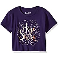 Under Armour Girls Here to Shine Short sleeve Tee, Purple Switch (570)/After Burn, Youth Large