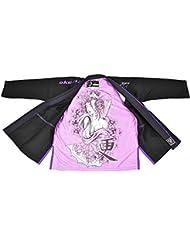 OKAMI Fightgear Mujer Woman Geisha BJJ GI, todo el año, mujer, color negro, tamaño F2