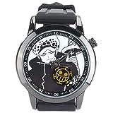CoolChange One Piece Armbanduhr mit Jolly Roger Sekundenzähler, Ziffernblatt: Trafalgar Law
