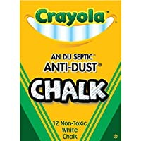 Crayola FBA_51816 Nontoxic Anti-Dust Chalk, White, 12 Sticks/Box (50-1402), 1 Pack