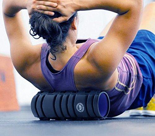 Apolyne Foam Roller BTK Schaumrolle Schaumstoffrolle für Yoga und Pilates, Unisex Erwachsene, schwarz, Einheitsgröße