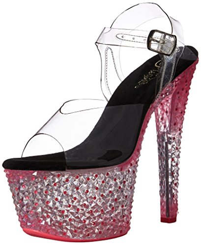 Pleaser CRYSTALIZE-308PS Clr/Neon Icy H. Pink