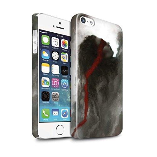 Offiziell Chris Cold Hülle / Glanz Snap-On Case für Apple iPhone SE / Sonnengott/Reben Muster / Unterwelt Kollektion Rotes Band-Engel