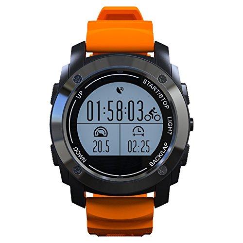 Auntwhale 1 Stück Outdoor Sports Wasserdichte Smartwatch GPS-Positionierung Pulsmesser Kompatibel mit Android/IOS-Betriebssystem