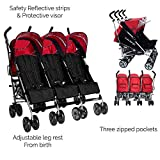 Kidz Kargo Triplett Buggy Kind Baby Neugeborenes Buggy Stroller (Berry-Rot)