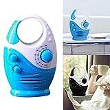 Mini-AM-FM-Duschradio, wasserdichtes Lautsprecherbad, Top-Griff-Einsatz-Kartenmusik, die tragbare Taste mit einstellbarer Lautstärke hängt -