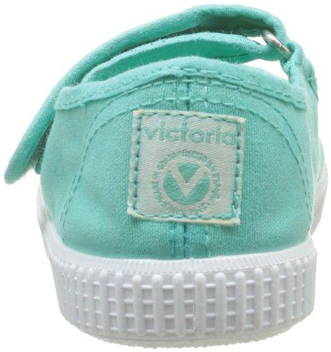 Victoria Mercedes Velcro Lona Tinta, Baskets mode fille Vert (Agua)