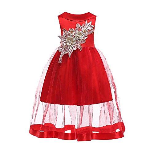Cloom Baby Mädchen Prinzessin Kleid Blumenmädchenkleid Taufkleid Festlich Kleid Hochzeit...