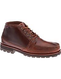 Sebago Zapatos de los hombres de Brown B710042 Vershire Chukka elaboración de la cerveza engrasó el