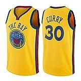 OLIS NBA Warriors 30 Curry Maglia da Basket per Uomo Jersey, Nuovo Tessuto Ricamato Camicia T-Shirt Sportive Swingman