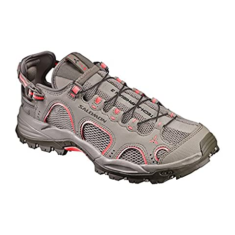Salomon Techamphibian 3 W, Sneakers trail-running femme - vert - Vert kaki / Corail (Vintage Kaki/Bungee Cord/Living Coral), 36 EU