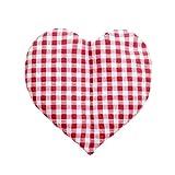 Original Kirschkernherz/Massagekissen von Formalind gefüllt mit 100% Kirschkernen zur Wärme und Kältetherapie // Kirschkernkissen für Mikrowelle, Herzförmiges Wärmekissen aus Baumwolle (Rot)