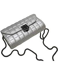 Ilishop Women'S New Fashion Pu Multifunction Shoulder Bag Crossbody Bag (Grey)