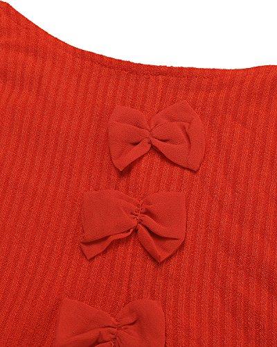 ZANZEA Damen Cocktail Kleid Orange