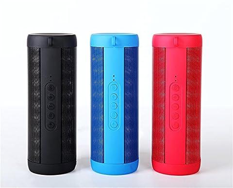 OUTDOOR Bluetooth Lautsprecher Rot, Wasserdicht mit Taschenlampe & Freisprecheinrichtung. Kompatibel mit iOS & Android. Wiedergabe per Bluetooth, MicroSD Slot, Klinke &
