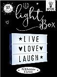 Dekoleuchte Lightbox A4 Leuchtkasten zum Selbergestalten LED Kino Box