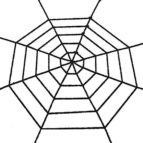 (HuntGold Schwarz Faser Riesen Spinnennetz Fest Halloween Party Haus Dekoration 1,5 Meter)