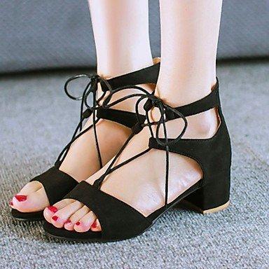 Zormey Frauen Schuhe Samt/Ferse/Plattform/Open Toe Pumps Kleid Schwarz/Braun/Burgund US5 / EU35 / UK3 / CN34