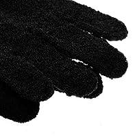 Sharplace 1 Paar Peeling Badhandschuh Dusche Bade Hautpflege Massage handschuhe Körper Saubermachen - Schwarz