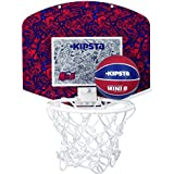 KIPSTA MINI B BASKETBALL BACKBOARD SET - RED BLUE