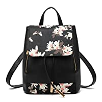 Honeymall Fashion Women Girls Ladies Traveling Bag PU Leather Backpack Shoulder Bag Rucksack