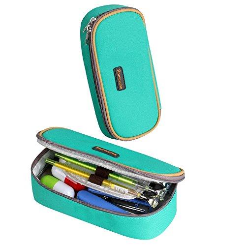 Homecube astuccio portamatite, spazioso, per cancelleria di studenti, colore verde