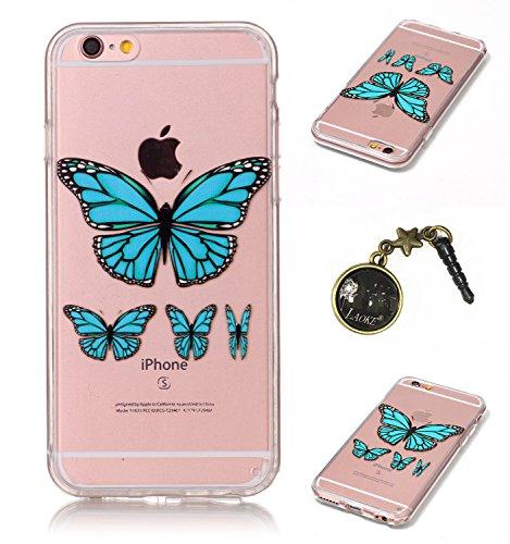 TPU Crystal Case Hülle Silikon Schutzhülle Handyhülle Painted pc case cover hülle Handy-Fall-Haut Shell Abdeckungen für Smartphone Apple iPhone 6 (4.7 Zoll) +Staubstecker (3GK) 4