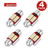 ACENTIX 4 Pack X Red 31mm Automotive LED Bulbs,Energy Saving LED Lamp,Compatible with CANBUS Error Free Bulb,DC 12V 5730 10 SMD,Fit Side Indicator/Sidelight,More Brighter Than Other Brand LED Bulbs