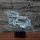 Mzdpp Usb Visuelle Acryl 7 Farbwechsel Touch 3D Lokomotive Alte Zug Lampe Tisch Nachtlicht Led Baby Schlaf Beleuchtung Kinder Geschenke