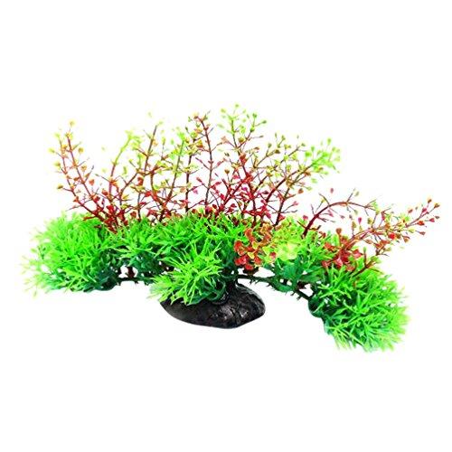 YOSEMITE Kunstpflanze grün Gras Wasser Pflanzen Dekoration für Aquarium Teich 2#