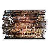 Kreative Feder Whisky Designer Schlüsselbrett, Hakenleiste Landhaus Style, Shabby aus Holz 30x20cm, HSB119
