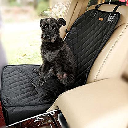 Homeself 2 in 1 Pet dog car supplies Pet Front Seat Cover Waterproof Pet Booster Seat (GREY) 1