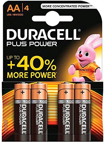 Duracell LR6/MN1500 - Pile Alcaline - AA x 4 - Plus (LR6)
