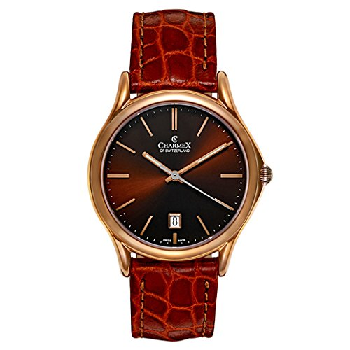 Orologio - - CHARMEX - 2712_tobaccodial;brownleatherstrap