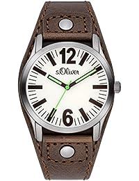 s.Oliver UNISEX-Armbanduhr Analog Quarz Leder SO-2937-LQ
