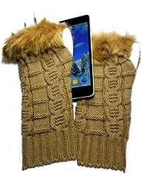 PRESKIN - gants élégant de manchette, Cool - mais chaleureux, la conception tricoté avec confort, les sensations plus intuitive pour les smartphones, Navi, tablette ...