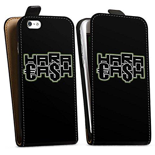 Apple iPhone X Silikon Hülle Case Schutzhülle Elotrix Merchandise Fanartikel HaraCash Downflip Tasche schwarz