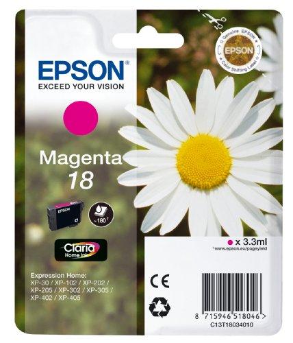 Epson-magenta-inkjet-drucker Patrone (Epson Original T1803 Tintenpatrone Gänseblümchen, Claria Home Tinte, Text- und Fotodruck (Singlepack) magenta)