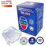 20x Atemschutzmaske FFP2 | Staubmasken Feinstaub staubmaske staubfecht Respirator Disposable Breathing Dust Mask Staubmasken Feinstaub