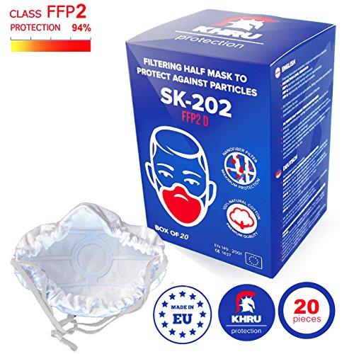 20x Staubmasken Feinstau FFP2 | Atemschutzmaske staubmaske staubfecht Respirator Disposable Breathing Dust Mask Staubmasken Feinstaubmaske Staubmaske filter | Air Filtration with Electrospun Nanofiber