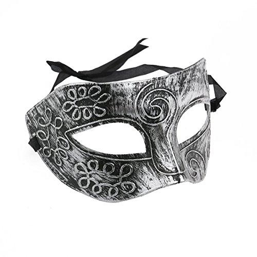 Veewon Venetian Herren Kostümball Masken Gesichtsmaske für Party, Kostümball, Maskenball , Halloween (Trägt Mann Kostüm)