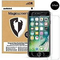 2 Pacchi Apple iPhone 7 Pellicola Protettiva in Vetro Temperato, MediaDevil Magicscreen Crystal Clear (Invisibile)