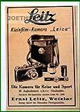20er Jahre - Inserat / Anzeige: LEITZ / LEICA / DIE KAMERA FÜR REISE UND SPORT - Grösse : ca. 70 x 100 Millimeter - alte Werbung / Originalwerbung/ Printwerbung / Anzeigenwerbung / Advertisement