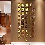 MEHE@ Kreative Persönlichkeit 3D Acryl Wandsticker Wohnzimmer Schlafzimmer Kindraumes Karikatur-Wand-Aufkleber ( farbe : Gold , größe : 54*130cm )