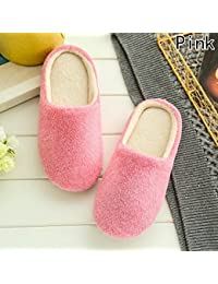 1 Pair Women Home Slippers Warm Winter Indoor House Shoes Bedroom Bathroom Supplies Guests Ladies Soft Flats Slippers