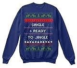 Single Ready To Jingle Unisex Sweater Sweatshirt - L - Oxford Navy - Standard Unisex Sweatshirt