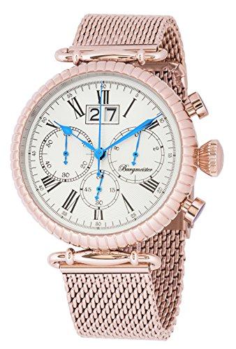 Burgmeister Reloj de caballero de cuarzo (con cronómetro) Paris, BMP02-318