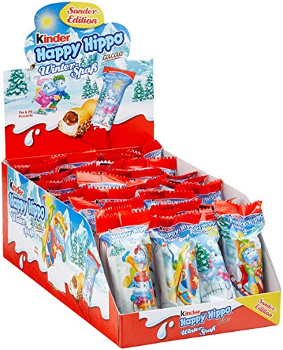 kinder Happy Hippo Cacao Einzelriegel, 28er Pack (28 x 20,7 g Riegel) Palm-mic-kit