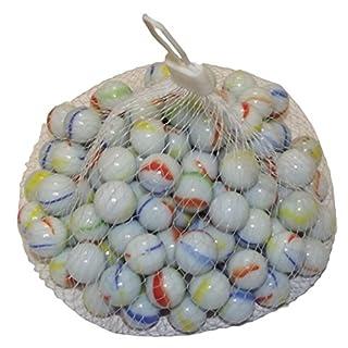 ARSUK Glasmurmeln, Spielzeug, Deko Kugeln Durchsichtig Klare Glasmurmeln, Dekoration Glaskügelchen bunt (milchige Murmeln, 100 Stück)